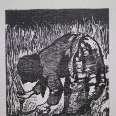 Arte: ANTONIO RODRÍGUEZ VALDIVIESO. SEGADORA V/XX 1960. Lote 205475060