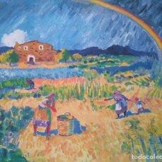 Arte: RAMÓN SANVISENS: SIEGA CON ARCO IRIS. EJEMPLAR 65/225. Lote 205547493