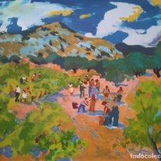 Arte: RAMÓN SANVISENS: PERSONAJES EN EL CAMPO. EJEMPLAR 65/225. Lote 205548297