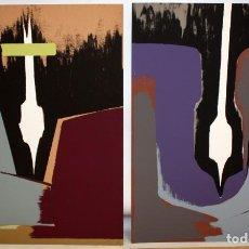 Arte: SALVADOR SORIA (VALENCIA, 1915-2010) PAREJA DE SERIGRAFIAS ORIGINALES FIRMADAS A MANO. TIRAJE: VI/X. Lote 205689037