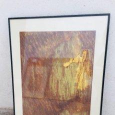 Arte: 2/20 AMBER AMBLE 1985 GARY BREUNIG ATELIER 17 PARIS FRANCIA LITOGRAFIA 65X51CMS. Lote 205814105