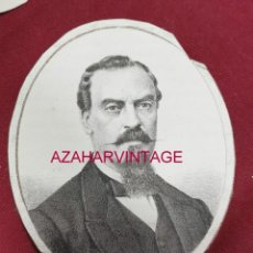 Arte: 1869, LITOGRAFIA DEL DIPUTADO A CORTES POR MONTILLA,CORDOBA,D. J.ALVAREZ SOTOMAYOR,85X105MM. Lote 206118458