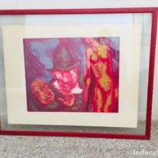 Arte: LITOGRAFIA LUIS GARCIA OCHOA 73/100 PERSONAJES GROTESCOS 67X84CMS. Lote 206456080