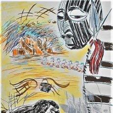 Arte: CARLOS PAZOS CHROMO -2 LITOGRAFÍA ORIGINAL FIRMADA Y NUMERADA 35 /100 A LÁPIZ ED LA POLÍGRAFA GUARRO. Lote 206577202