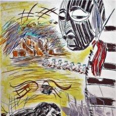 Arte: CARLOS PAZOS CHROMO -2 LITOGRAFÍA ORIGINAL FIRMADA Y NUMERADA 77 /100 A LÁPIZ ED LA POLÍGRAFA GUARRO. Lote 206580240