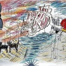 Arte: CARLOS PAZOS CHROMO -3 LITOGRAFÍA ORIGINAL FIRMADA Y NUMERADA 34/100 A LÁPIZ ED POLÍGRAFA PAP GUARRO. Lote 206818325