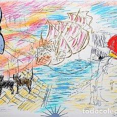 Arte: CARLOS PAZOS CHROMO -3 LITOGRAFÍA ORIGINAL FIRMADA Y NUMERADA H.C. A LÁPIZ ED POLÍGRAFA PAPEL GUARRO. Lote 206906000