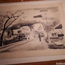 Arte: MADRID PLAZA DE CIBELES. OLIVERAS ILUSTRADOR 1960.. Lote 207150827