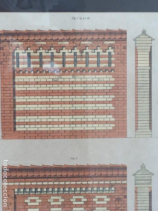Arte: litografía enmarcada muro casa en munich munchen por l degen 61 X 51 X 2 CM - Foto 7 - 207223236