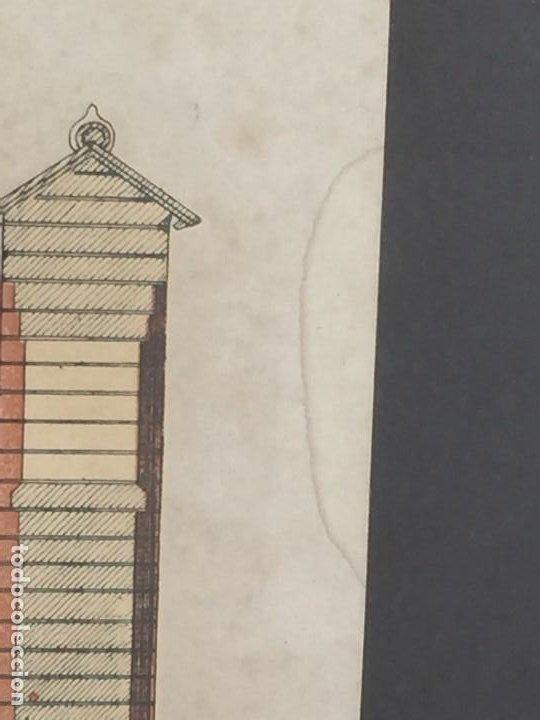Arte: litografía enmarcada muro casa en munich munchen por l degen 61 X 51 X 2 CM - Foto 3 - 207223236