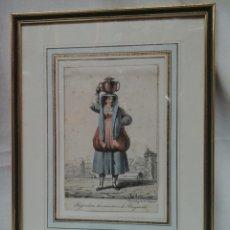 Arte: LIT.COLOREADA DE H.LECOMTE PAISANA DE BAYONA (FRANCIA). Lote 207598496