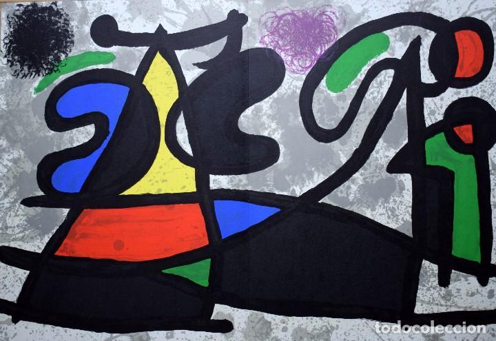 Arte: Joan Miró - Litografía enmarcada Derriere le Mirror - Foto 2 - 207818897