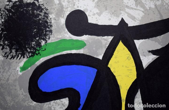 Arte: Joan Miró - Litografía enmarcada Derriere le Mirror - Foto 3 - 207818897