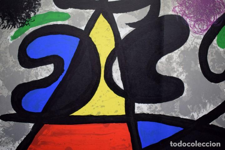 Arte: Joan Miró - Litografía enmarcada Derriere le Mirror - Foto 4 - 207818897