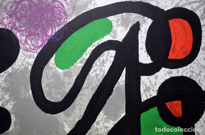 Arte: Joan Miró - Litografía enmarcada Derriere le Mirror - Foto 5 - 207818897