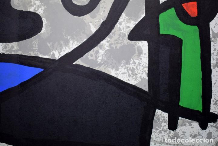 Arte: Joan Miró - Litografía enmarcada Derriere le Mirror - Foto 6 - 207818897