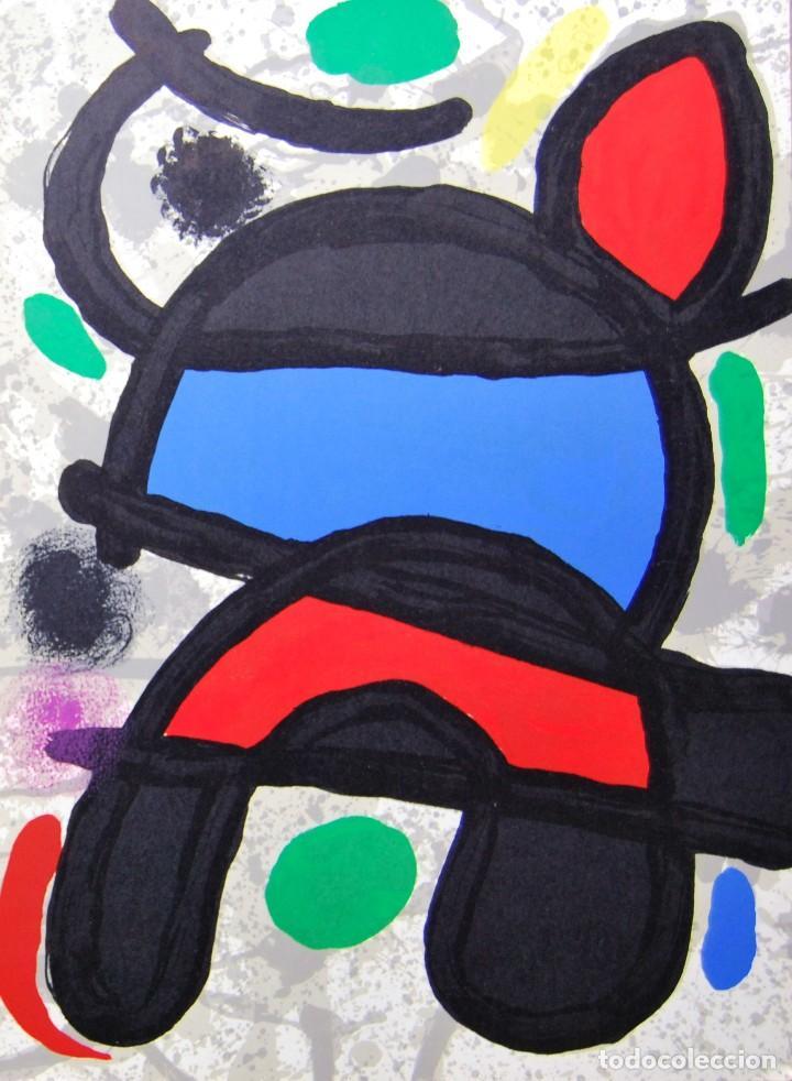 Arte: Joan Miró - Litografía enmarcada Derriere le Mirror - Foto 2 - 207819488