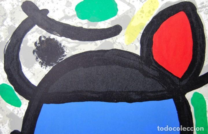 Arte: Joan Miró - Litografía enmarcada Derriere le Mirror - Foto 3 - 207819488