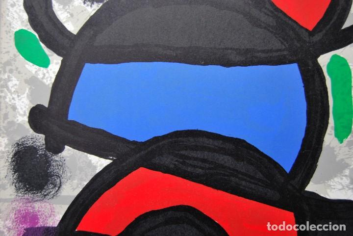 Arte: Joan Miró - Litografía enmarcada Derriere le Mirror - Foto 4 - 207819488