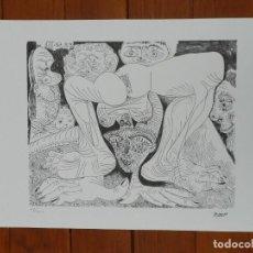 Art: PICASSO PABLO LITOGRAFIA FONDAZIONE FIRMA TAMPONE CERTIFICATO EX. 200. Lote 207825322