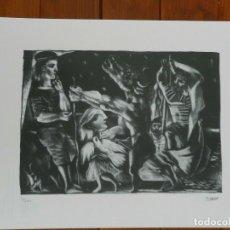 Art: PICASSO PABLO LITOGRAFIA FONDAZIONE FIRMA TAMPONE CERTIFICATO EX. 200. Lote 207829052