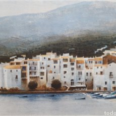 Arte: JOSEP Mª VAYREDA CANADELL (OLOT, 1932-2001) - CADAQUÉS.PRUEBA DE AUTOR.FIRMADA.. Lote 208274886