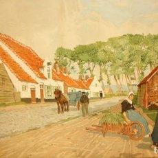 Arte: HENRI CASSIERS (BÉLGICA, 1858 - 1944) LITOGRAFIA ORIGINAL. 59 X 98 CM.. Lote 209105238