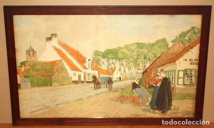 Arte: Henri CASSIERS (Bélgica, 1858 - 1944) LITOGRAFIA ORIGINAL. 59 X 98 CM. - Foto 2 - 209105238