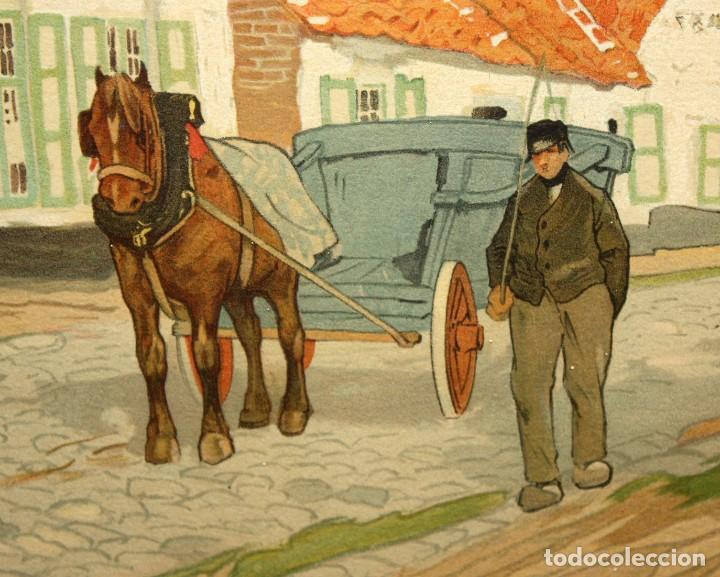 Arte: Henri CASSIERS (Bélgica, 1858 - 1944) LITOGRAFIA ORIGINAL. 59 X 98 CM. - Foto 5 - 209105238