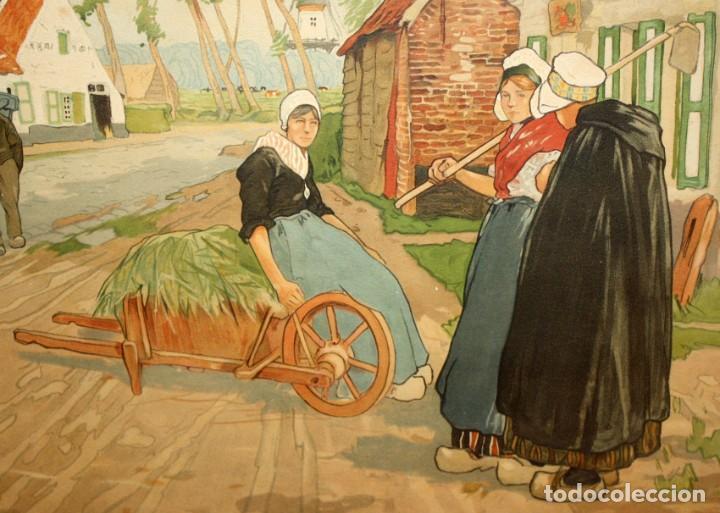 Arte: Henri CASSIERS (Bélgica, 1858 - 1944) LITOGRAFIA ORIGINAL. 59 X 98 CM. - Foto 6 - 209105238