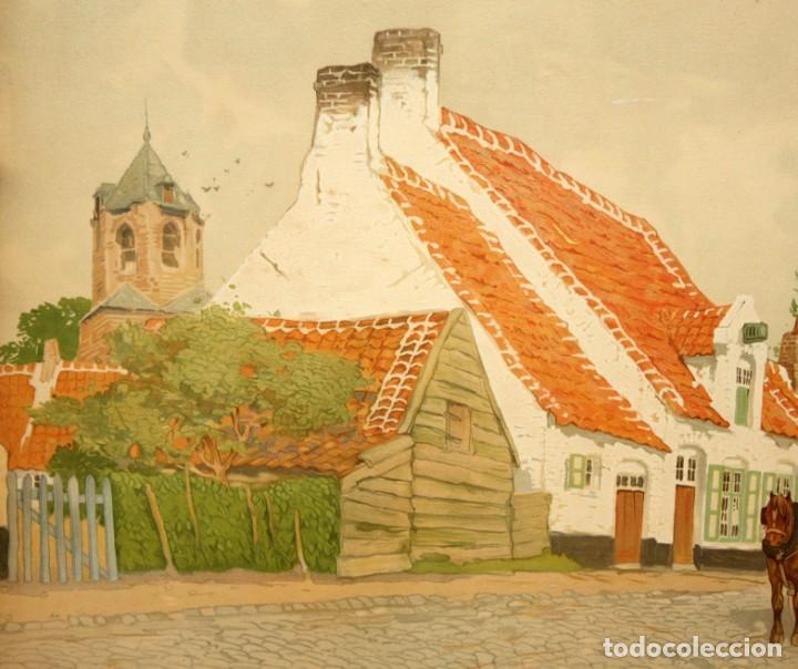 Arte: Henri CASSIERS (Bélgica, 1858 - 1944) LITOGRAFIA ORIGINAL. 59 X 98 CM. - Foto 7 - 209105238