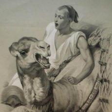 Arte: LA SMALA, DE HORACE-VERNET, LITOGRAFÍA DE JULIEN, 1840. Lote 209831722