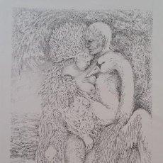 Arte: EMY HUDECEK, LEDA, LITOGRAFÍA FIRMADA Y NUMERADA DE 1968. Lote 209833986