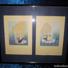Arte: DOS LITOGRAFÍAS ARTE DIGITAL VANGUARDIA AÑOS 80 NUMERADAS Y FIRMADAS REPROART SA. Lote 210333345