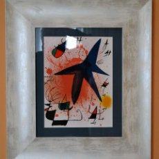 "Arte: JOAN MIRÓ - LITOGRAFÍA ENMARCADA ""L´ASTRE BLEU"". Lote 211639858"