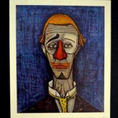 Arte: BERNARD BUFFET - TE DE CLOWN, COLECCIÓN MAURICE. Lote 211760965