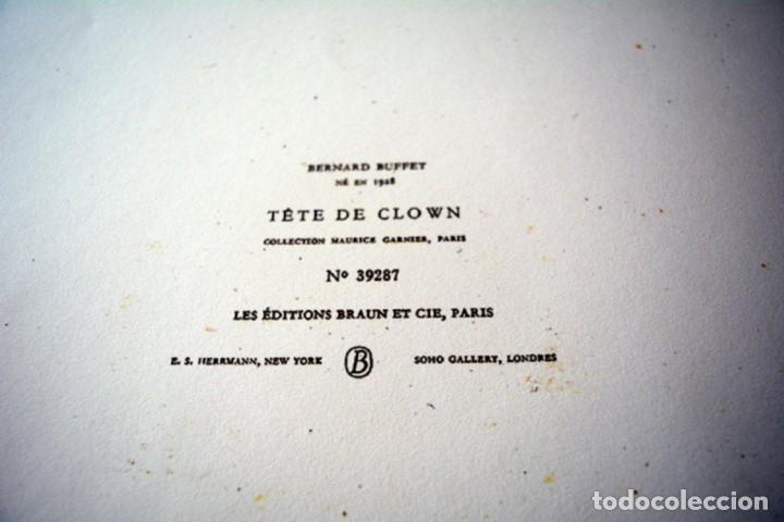 Arte: Bernard BUFFET - te de clown, Colección Maurice - Foto 3 - 211760965