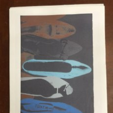 Arte: ANDY WARHOL LITOGRAFIA 57 X 38 ARCHES FRANCE TIMBRI GALLERIE D' ARTE. Lote 211886483