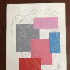 Arte: ANDY WARHOL LITOGRAFIA 57 X 38 ARCHES FRANCE TIMBRI GALLERIE D' ARTE. Lote 211887210