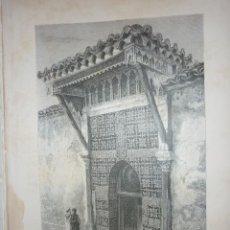 Arte: ARGELIA, PUERTA DE LA MEZQUITA DE BOU-MEDINA, EN TREMECEN . LITOGRAFIA DE 1881. GEOGRAFIA UNIVERSAL.. Lote 212206121