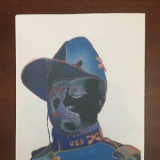 Arte: ANDY WARHOL LITOGRAFIA 57 X 38 ARCHES FRANCE TIMBRI GALLERIE D' ARTE. Lote 212207527