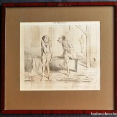 Arte: DAUMIER: LES BAIGNEURS / LITOGRAFIA, 1847. Lote 212214725