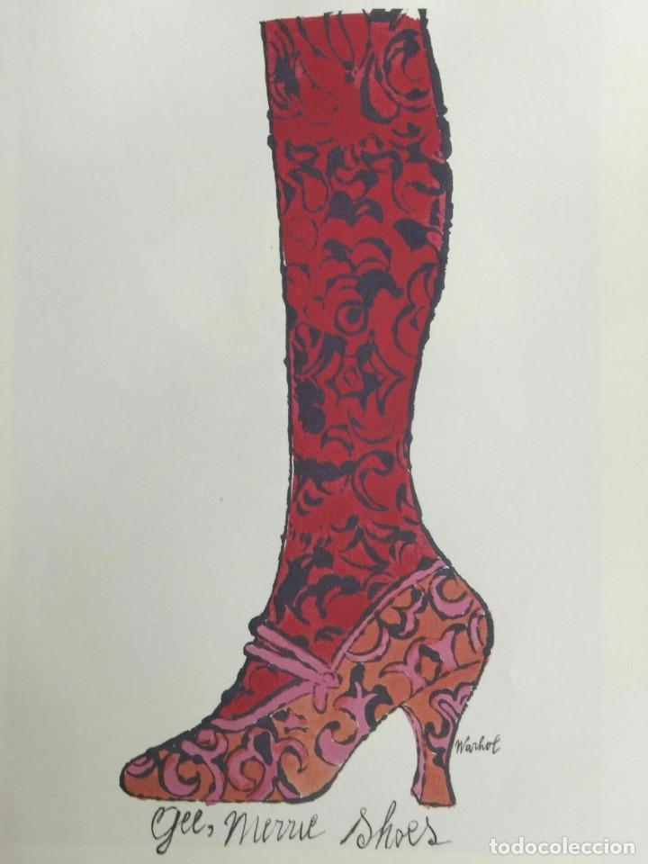 Arte: Litografia de Andy Warhol,Tacon rojo,numerado a lapiz,con firma y marca de agua,57x38 cms - Foto 2 - 213164441