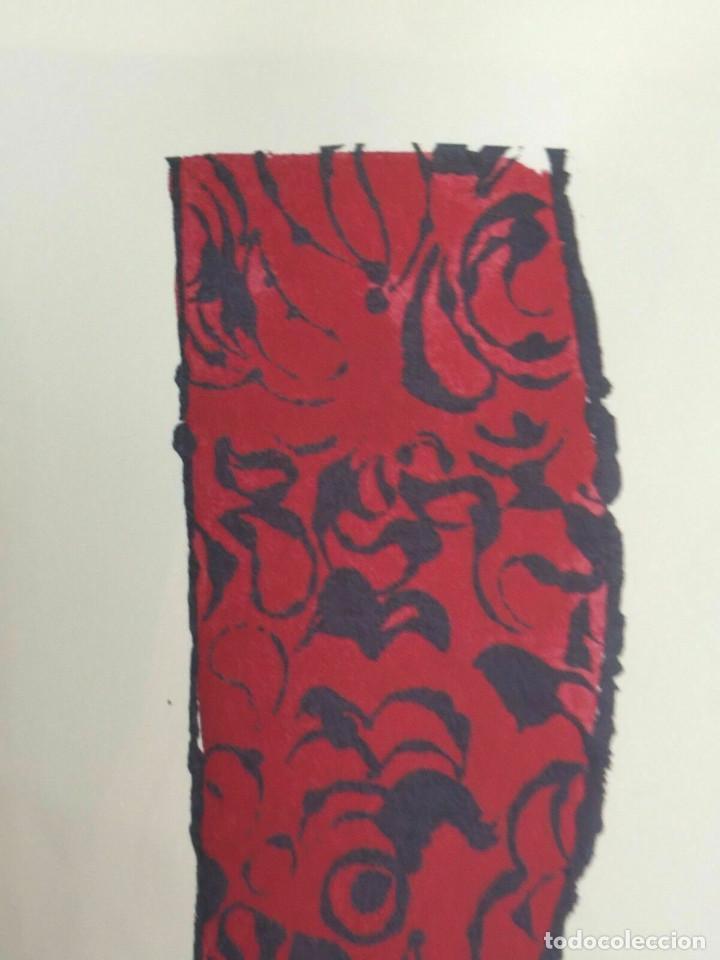 Arte: Litografia de Andy Warhol,Tacon rojo,numerado a lapiz,con firma y marca de agua,57x38 cms - Foto 3 - 213164441