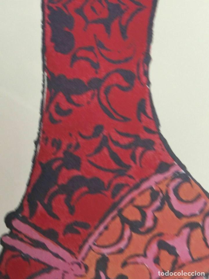 Arte: Litografia de Andy Warhol,Tacon rojo,numerado a lapiz,con firma y marca de agua,57x38 cms - Foto 6 - 213164441