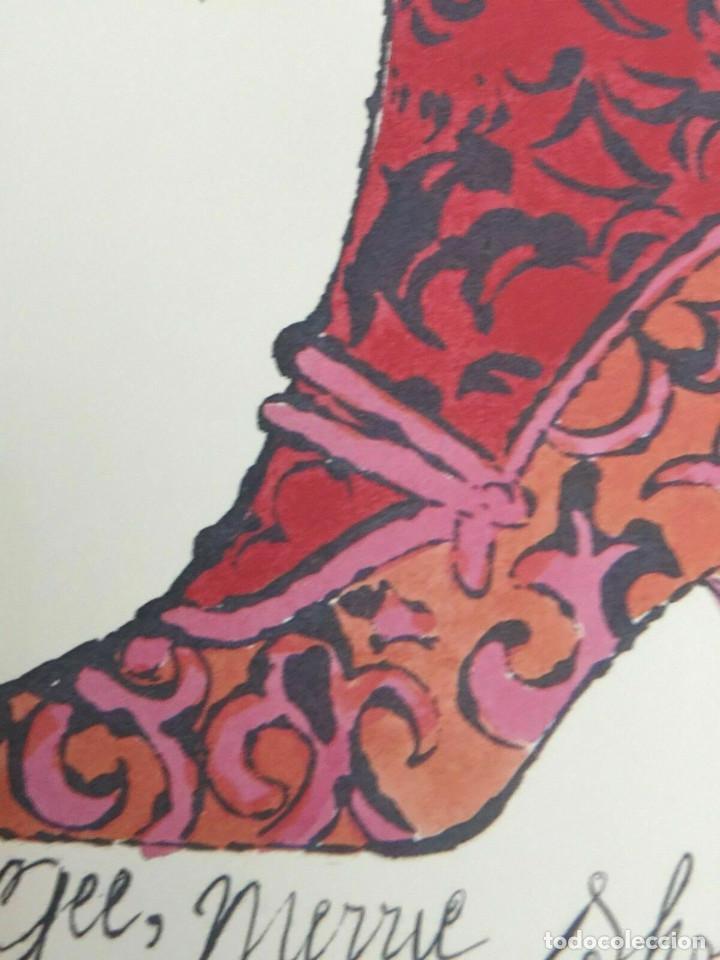 Arte: Litografia de Andy Warhol,Tacon rojo,numerado a lapiz,con firma y marca de agua,57x38 cms - Foto 8 - 213164441
