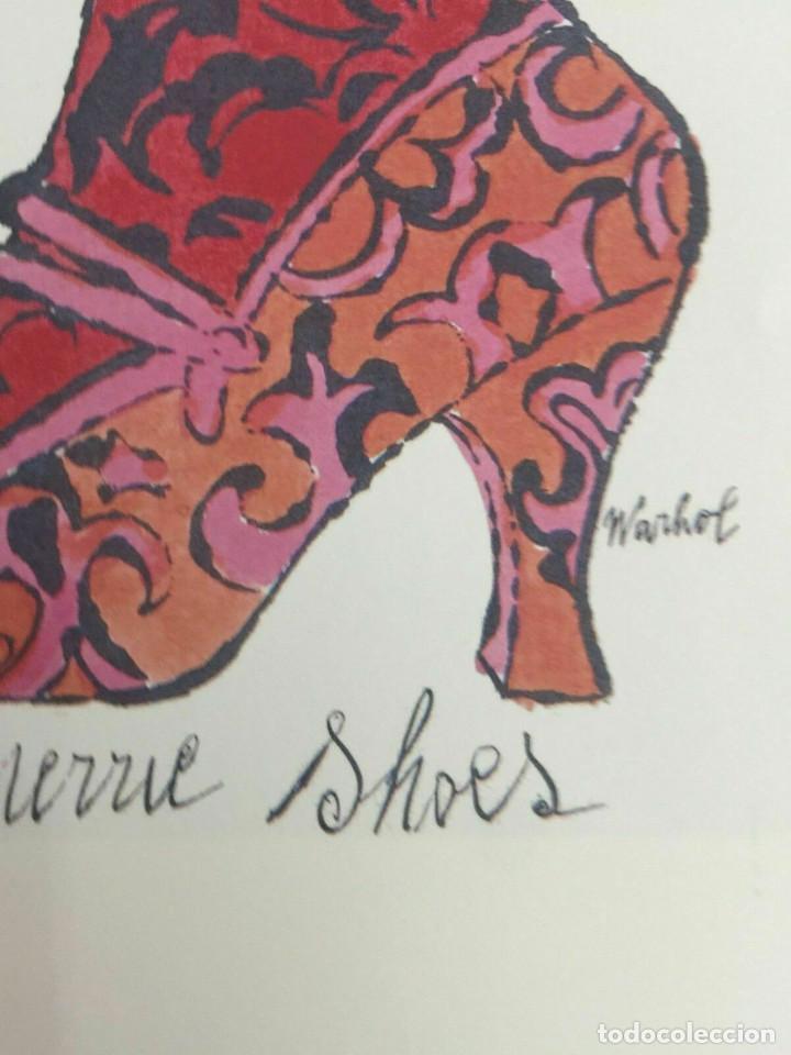 Arte: Litografia de Andy Warhol,Tacon rojo,numerado a lapiz,con firma y marca de agua,57x38 cms - Foto 9 - 213164441