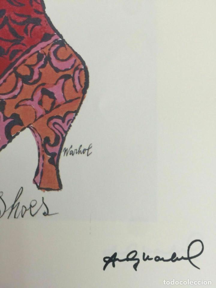 Arte: Litografia de Andy Warhol,Tacon rojo,numerado a lapiz,con firma y marca de agua,57x38 cms - Foto 10 - 213164441