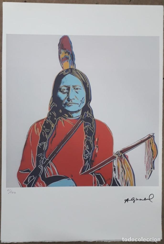LITOGRAFIA DE ANDY WARHOL,TORO SENTADO,NUMERADO A LAPIZ,CON FIRMA Y MARCA DE AGUA,57X38 CMS (Arte - Litografías)