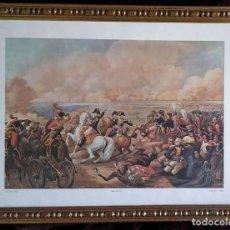 Arte: GRABADO: LITOGRAFÍA A COLOR / SALÓN DE 1810. ESCENA DE BATALLA CON NAPOLEÓN A CABALLO. ENMARCADO.. Lote 213336671